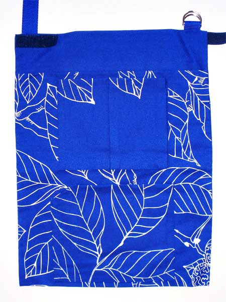Krückengurt Dekor Blaue Blätter