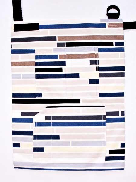Krückengurt Dekor Susannas blaue Streifen